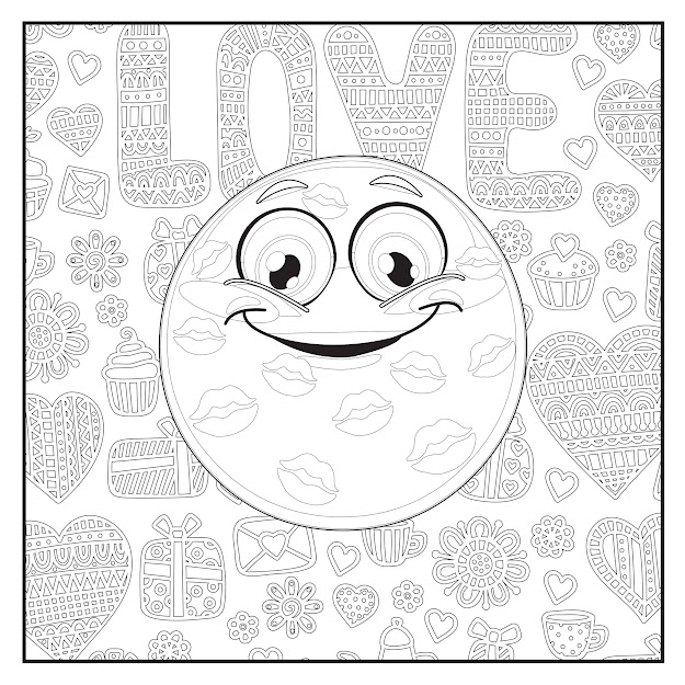 emoji love coloring book pages for adults teens and kids - Love Coloring Pages For Adults