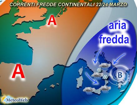 Ιταλοί μετεωρολόγοι : Πυκνές χιονοπτώσεις και ισχυρές καταιγίδες μέχρι τις 25 Μαρτίου σε Ελλάδα και Ιταλία
