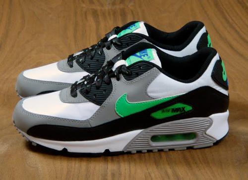 online retailer b0adf b89ac Bama Kicks: Nike Air Max 90 GS White/Real Lime