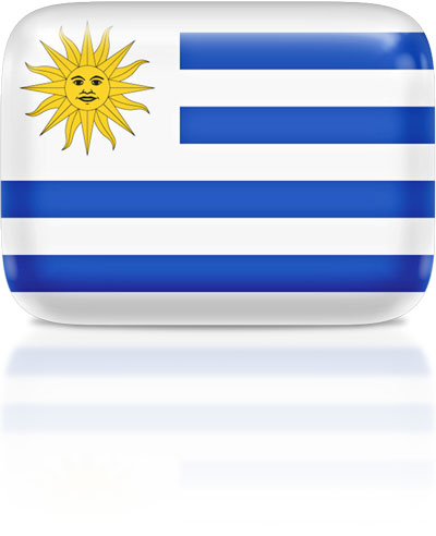 Uruguayan flag clipart rectangular