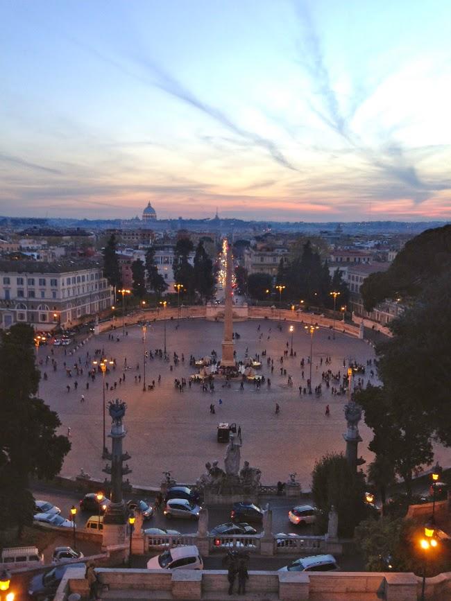 piazza popolo scenic italy rome roma view