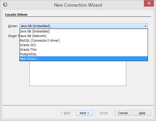 Netbeans agregar driver jdbc HSQLDB