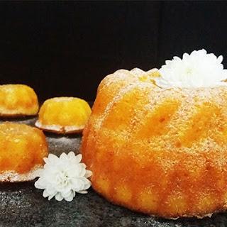 Whole Tangerine Orange Bundt Cakes.