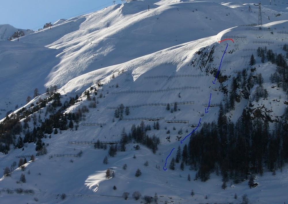 Avalanche Haute Tarentaise, secteur Tignes, Accès à Tignes, RD87a, avalanche CLPA n°153 - Photo 1