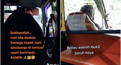 Viral Sopir Angkot Gratiskan Ongkos Tiap Hari Jumat, Tuai Pujian no