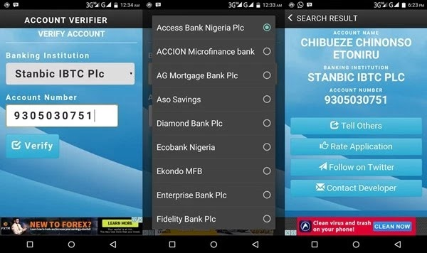 Once You Have Ed The Lication On Your Phone Launch It And Select Bank Name Enter A 10 Digit Nigerian Account