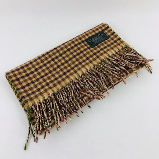 Christian Dior Checkered Scarf