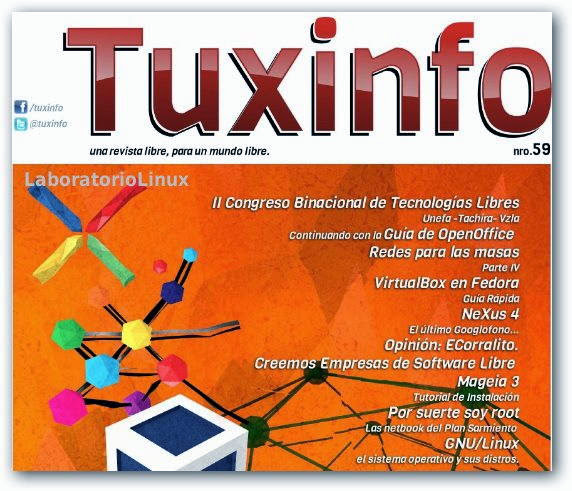 Revista TuxInfo Nº 59 disponible