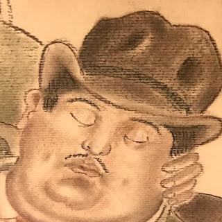 Botero Inspired Drawing