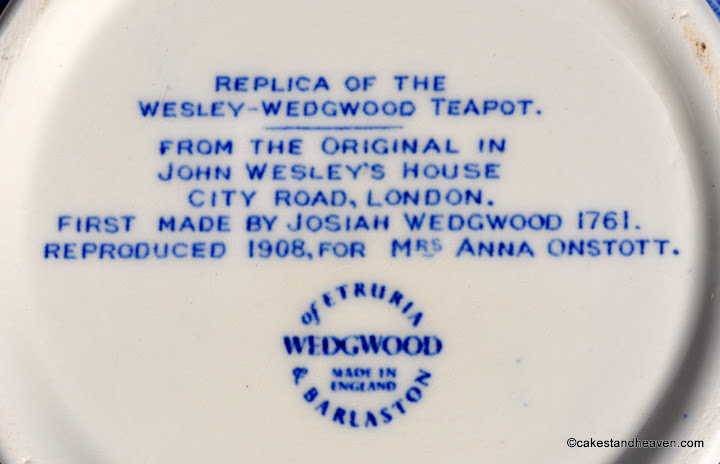 Replica of Wesley Teapot Backstamp