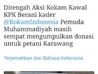 Di tengah Aksi KOKAM Kawal KPK, Masih Sempat Kumpulkan Donasi untuk Petani Karawang