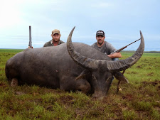 Jerad McFarlane of Canada took this huge bull at Carmor Plains in January with a double rifle. 107 SCI