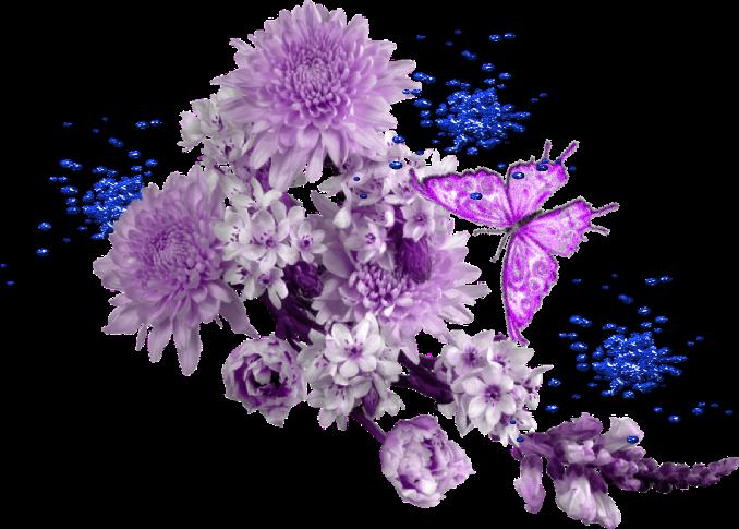 flores-borboleta lilazes