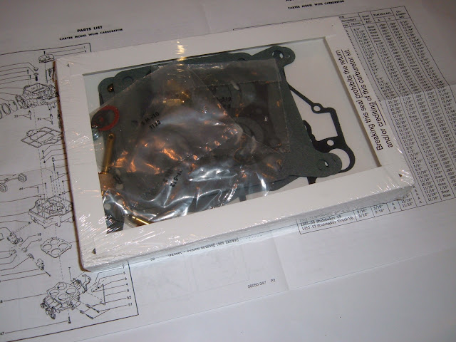 1953-1956 322 Carb kit for the Carter WCFB 54 barrel.  75.00
