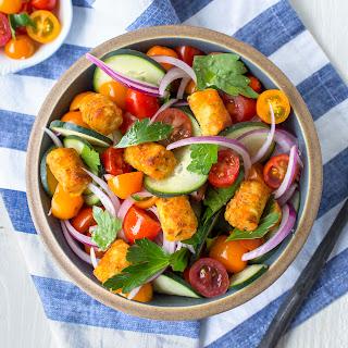 Crispy Carrot Puff Salad.