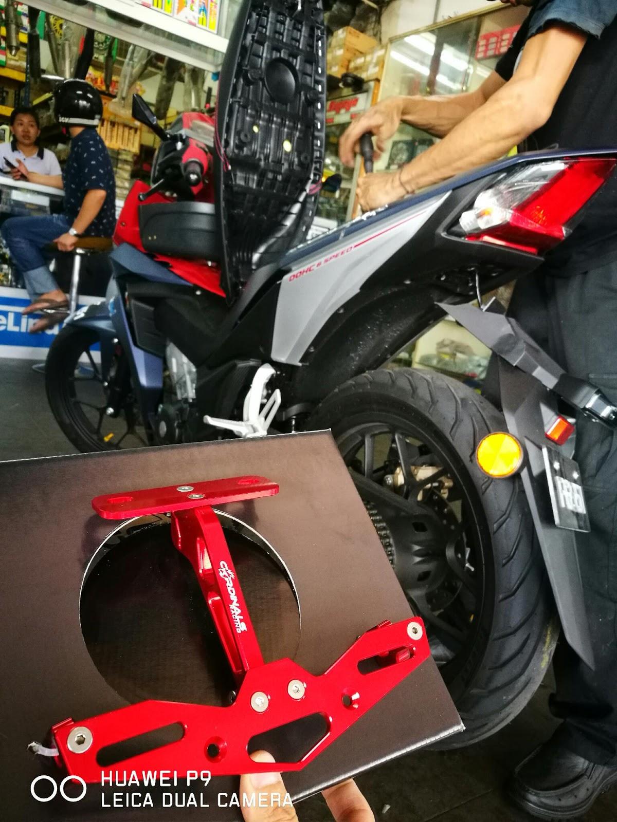 Cardinals Racing Number plate bracket - Honda RS150R   CARDINALS