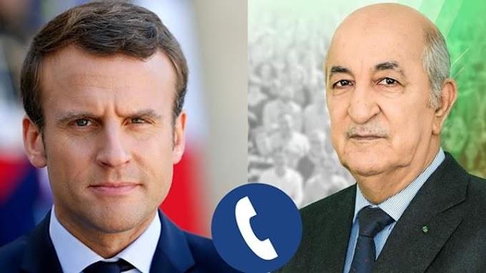 El Presidente de Argelia recibe una llamada telefónica del presidente francés