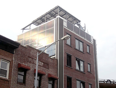 Self-powered building (the Delta) in New York City