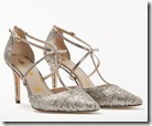 Boden silver sequinned t-strap evening shoe