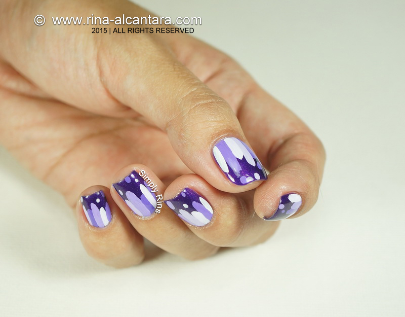 Violets are Blue Nail Art