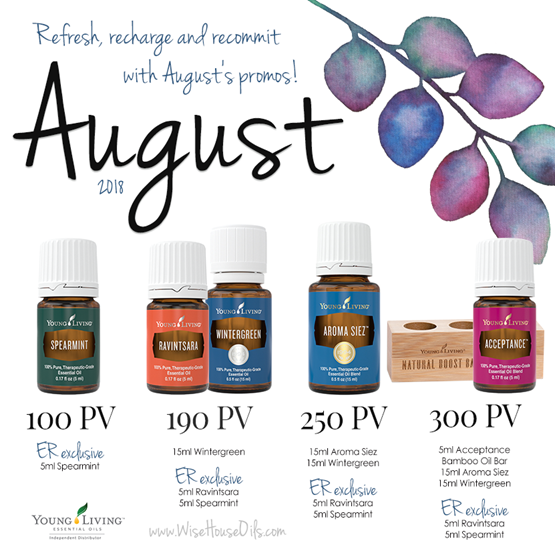 August 2018 Young Living Promo WHO