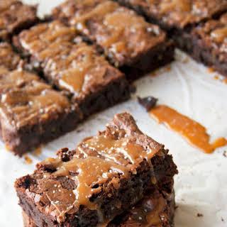Salted Caramel Brownies.