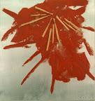 Stern von Bethlehem, Stahlblech, Acryl, Stroh 1998