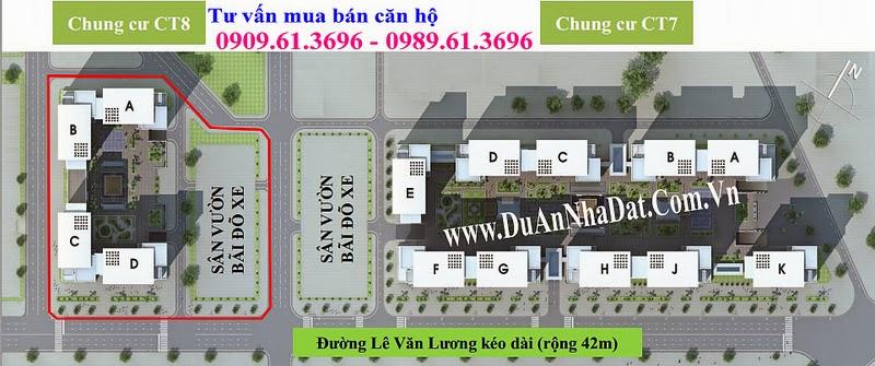 Vị trí CT7E trong quần thể chung cư Dương Nội