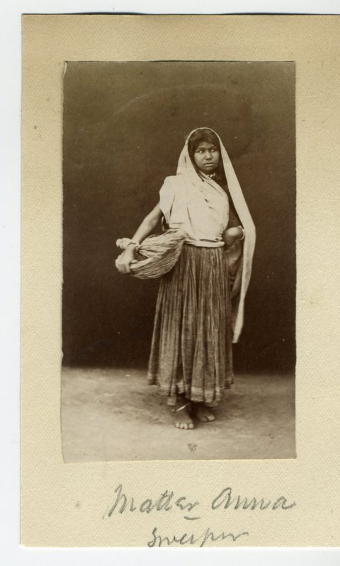 Indian Female Sweeper - 1880's
