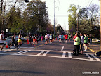 The half marathon course brought runners west on Park Drive and into a turn south on Monroe Drive (which is in the picture), just before they would have entered Piedmont Park. This was around mile nine for the half marathoners.