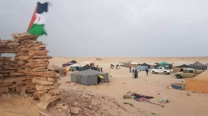 Campamento saharaui en la frontera de Marruecos con Mauritania