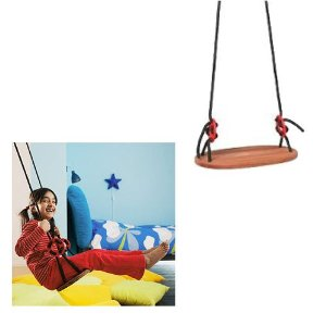 ikea ekorre wood swing rope swing online price. Black Bedroom Furniture Sets. Home Design Ideas