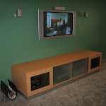 Feature Wall Sony Home Theatre System & LG Wall Mount.JPG