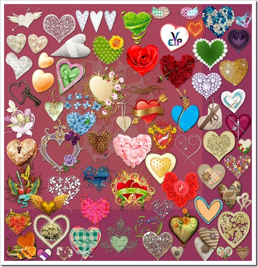 Beautiful lovely heart clipart