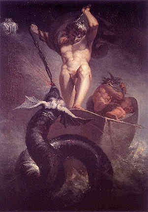 Thor And The Midgard Serpent, Asatru Gods And Heroes