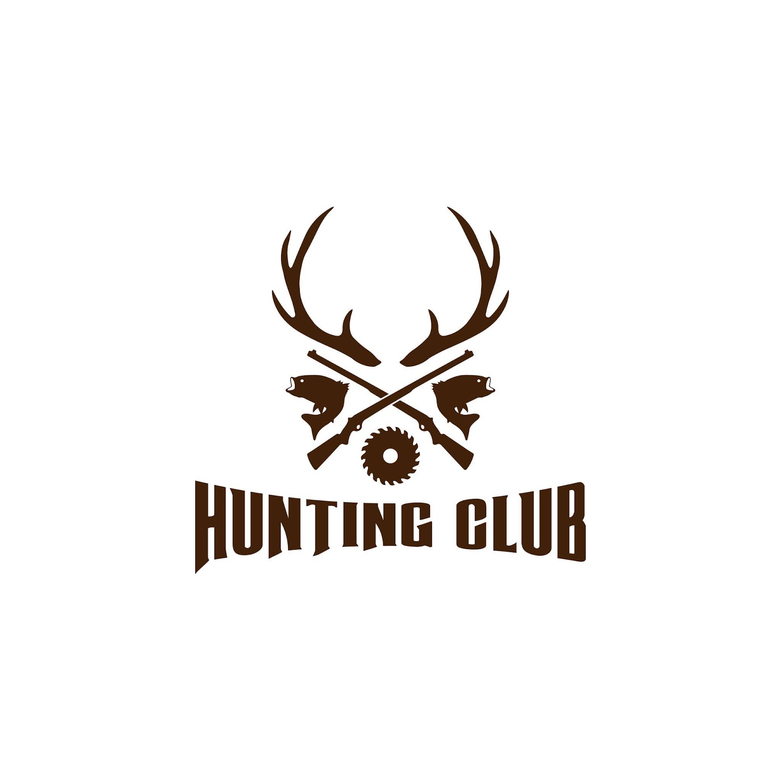 Illustration Hunting Logo Design Template Vector Free Download Vector CDR, AI, EPS and PNG Formats