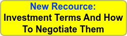 New Resource: Investment Terms And How To Negotiate Them