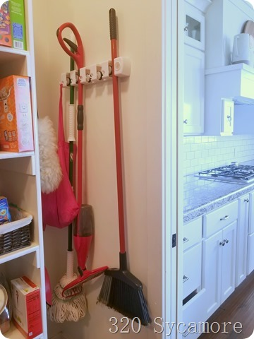 broom mop in pantry