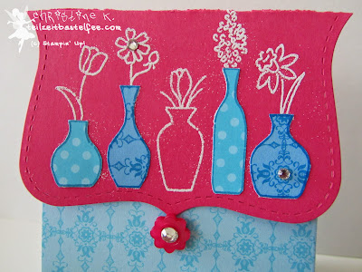 stampin up, vivid vases, box, verpackung, designerpapier