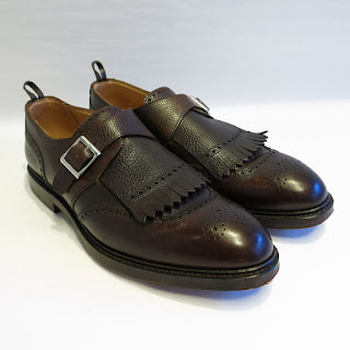 Black Fleece Kiltie Monkstraps