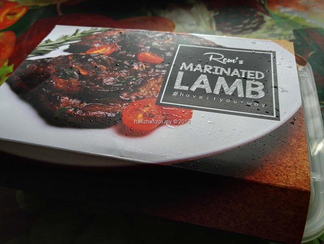 delivery marinated lamb (kambing perap) Putrajaya