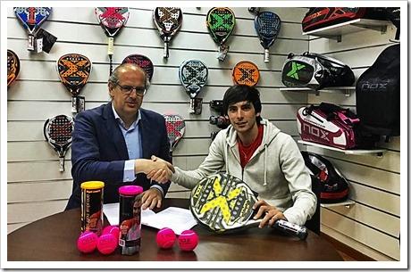 Franco Stupaczuk renueva con la firma NOX. Aqui con Jesús Ballvé, Director General de NOX.