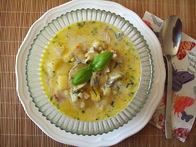 Kalafiorowa z dynią i gorgonzolą