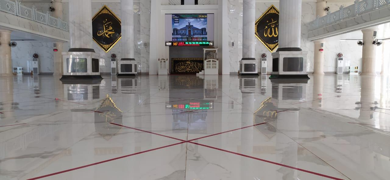 Jelang Dibuka, Masjid Agung Syekh Yusuf Gowa Siap Terapkan Protokol Kesehatan