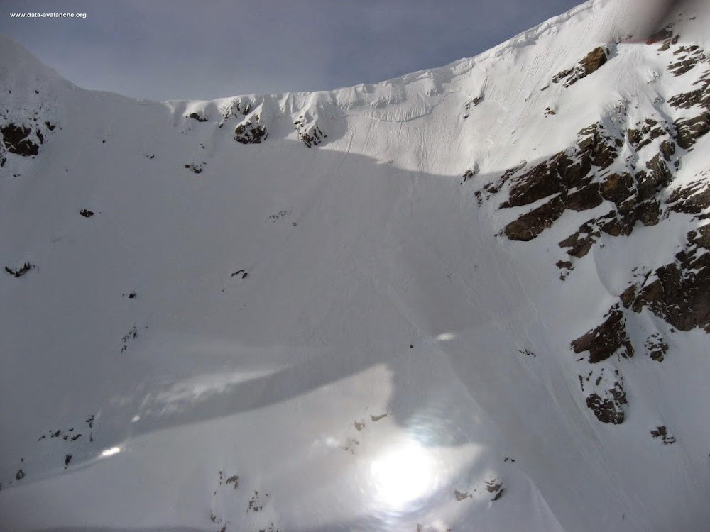 Avalanche Valais, secteur Böshorn, Pente nord-est du Böshorn - Photo 1
