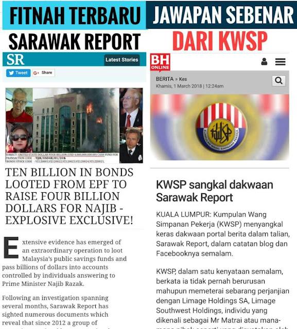Menjelang PRU14, Sarawak Report Mula Menyerang KWSP Dari Luar Negara