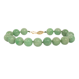 14K Gold and Green Stone Bracelet