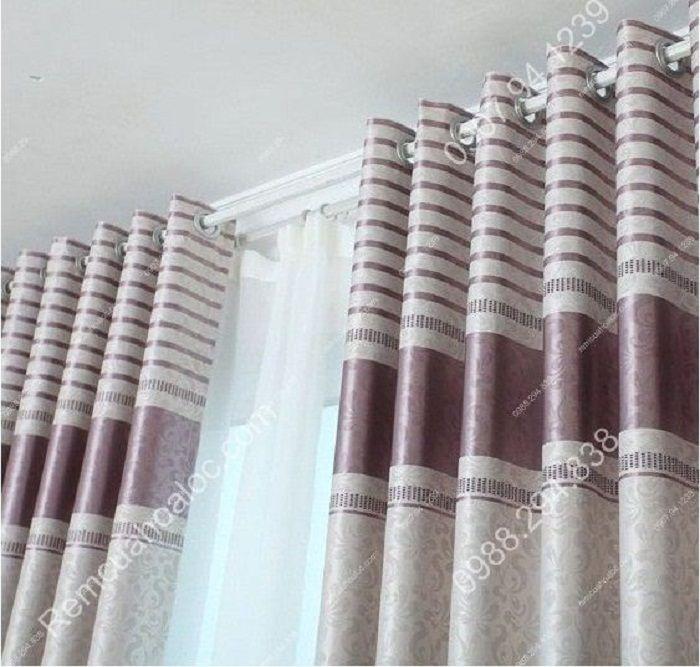 Rèm cửa đẹp cao cấp một màu tím nhạt  6