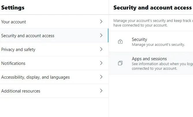 جميع حسابات البريد الإلكتروني لتطبيقات Twitter وجلساته