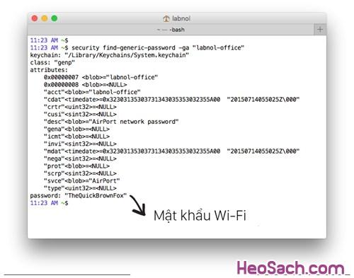 Hình 10 - Hướng dẫn cách lấy lại mật khẩu Wifi khi bạn quên mất